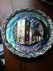 Carnival Glass Fenton Christmas 1971 In America # 2 Plate Old Brick Church MINT