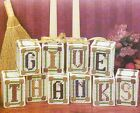 GIVE THANKS CENTERPIECE THANKSGIVING PLASTIC CANVAS PATTERN INSTRUCTIONS