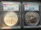 2 1998 1 Silver Eagle First Strike 350 EACH PCGS 2 COINS PRICE JUST DOUBLED
