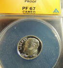 1964 ANACS Proof 67 Cameo Roosevelt~~Free Shipping~~Nice Cameo, Mirrors