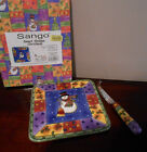 NEW Sango SWEET SHOPPE CHRISTMAS Cheese Tray / Board / Tile & Knife in BOX