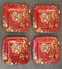 222 Fifth Gabrielle Red Square Salad Plates Set of 4