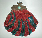 Antique Vintage Beaded Purse Handbag Art Deco Nouveau Beautiful Rusted Frame
