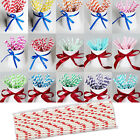 25 x Vintage Stripe Paper Drinking Straws Wedding Party Table Decorations