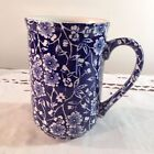 CALICO CHURCHILL 8oz MUG BLUE AND WHITE EUC!