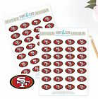 San Francisco 49ers Planner Stickers Perfect for all Planners like Erin Condren