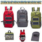 Travel Solar Panel Powered Backpack Bag Charger Charging Devices Hiking Camping