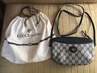 Authentic Vintage Gucci Navy Small Handbag Pouch Shoulder Crossbody