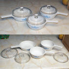 Vintage Corning Cornflower Blue 6-Piece Menuette Stovetop Set