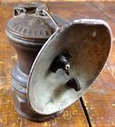Antique Auto Lite Autolite Brass Carbide Miners Mining Lamp with Reflector