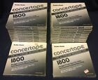 18 SEALED Radio Shack Concertape 1800 7 Inch Reel To Reel Blank Recording Tapes