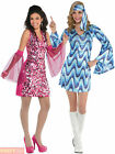 Ladies Disco Costume Adults 1960s 1970s Fancy Dress Womens Diva Boogie 70s Outfi
