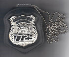 NYS EMT Police Officer Badge CutOut Neck Hanger w Chain Badge Not Included