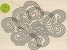 Large Swirl Background Rubber Stamp by Hero Arts