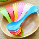 Colorful Spork Utensil Camping Hiking Spoon Fork Combo Backpacking Bento Outdoor