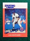 Lou Whitaker Detroit Tigers  Autographed signed 1988 Starting Lineup Card