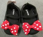 NWT Baby Gap Disney Minnie Mouse Red Heart Bow Crib Shoes 12 18 mo OR 18 24 mo