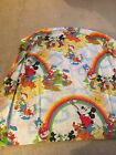 Vintage Disney Mickey  Friends Painting Rainbows Fitted Sheet
