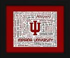 Indiana University 16x20 Art Piece Beautifully matted and framed behind glass