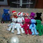 Original Authentic Ty Beanie Baby Retired Bear Lot w/ the Rare Clubby TY Bear
