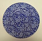 Queen's Made in England Calico Cobalt Blue & White Floral Salad Dessert Plate