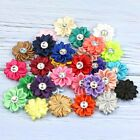 30 Colors 5 25 50PCS Satin Ribbon Flowers with crystal Wedding Appliques Crafts