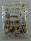 Prima Marketing Clear Stamps Key Butterfly Bird 8 pc Set NEW