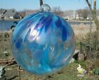 About 6 Blue Tree of Life Witches Ball Blown Glass Sun Center T9