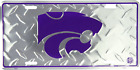 Kansas State Wildcats Diamond License Plate Sign Made in USA