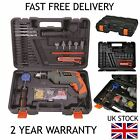 TERRATEK LIGHTWEIGHT CORDED PERCUSSION HAMMER DRILL + KIT BOX 13MM - 500W / 240V