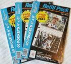 Lot 3 Holson Page Refill Packs for 4x6 Photos - 40 Pockets in Each Pack