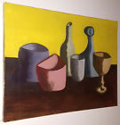 MID CENTURY MODERN STILL LIFE PAINTING ON CANVAS 18X24