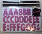 PINK GLITTER Upper Case 125 tall Alphabet Stickers 126 pcs by Recollections