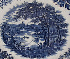 SOUP or CEREAL BOWL ~ CHURCHiLL CHINA ~ BLUE ENGLISH SCENE ~ FISHING CASTLE #4