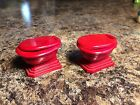 Vintage Red Toilet Salt and Pepper Shakers