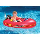 Kids Inflatable Speed Boat Ride On Float Swimming Pool Toy Water Raft Fun Red