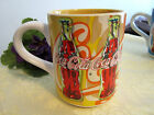 COCA COLA YELLOW CERAMIC MUG by GIBSON 1998