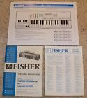 Fisher SC-300K Operating Instruction Manual, Stereo, Keyboard, SC 300 K, Boombox