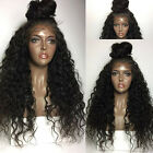 Women's Synthetic Hair Front Lace Wigs Long Natural Black Water Wave Heat Safe