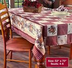 Country Hearts  Stars Tablecloth 52 x 70 Oblong NEW
