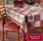 Country Hearts  Stars Tablecloth 60 x 84 Oblong NEW