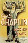 CHARLIE CHAPLIN MODERN TIMES print on Paper or Canvas Giclee Poster