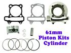 172cc HIGH PERFORMANCE CYLINDER KIT FOR GY6 MOTORS 61mm Bore