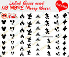 Mickey Disney Black and White Clear Vinyl PEEL and STICK Nail Decals set of 53