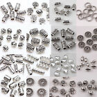 Lots 50 100Pcs Tibet Silver Plated Loose Spacer Beads Charm Jewelry Findings DIY