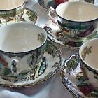 Johnson Bros. The Friendly Village Cups & Saucers The Ice House LOT of 10