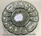 Indiana Carnival Depression Iridescent Gray Egg Tray Vintage