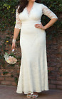 KIYONNA Ivory Amour Lace Wedding Formal Gown Dress 2X 18 20 BRIDAL BRIDE