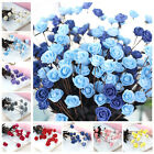 15 Head Artificial Small Rose Silk Flower Wedding Bouquet Home Party Decor
