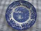 vintage broardhurst the english scene blue white  bread & butter plate churchill